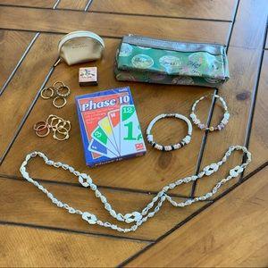 Bundle of fun girl items, DAISY purse, Phase10 +
